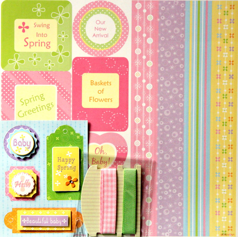 Baby & Spring 8 x 8 Mini Scrapbook Kit