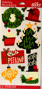 Sticko Holiday Words Prizm Stickers