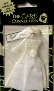The Card Connection Wedding Dress Dimensional Scrapbook Stickers Embellishments