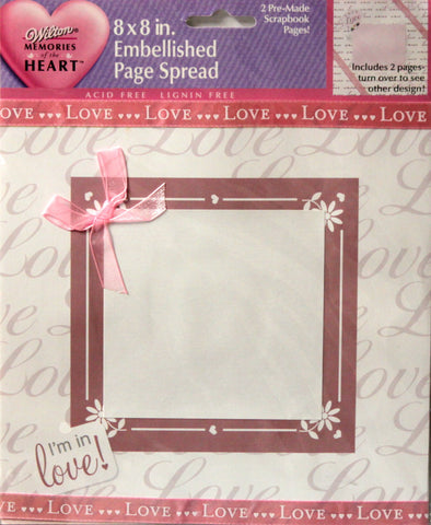 Wilton True Love Pre-Made 8 x 8 Scrapbook Pages