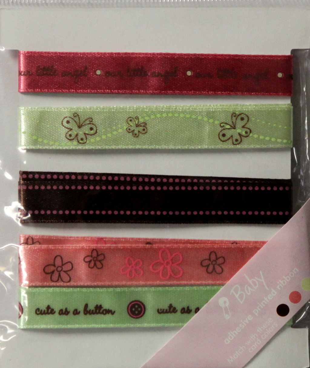 JoAnn Craft Essentials Printed Baby Girl Adhesive Ribbons