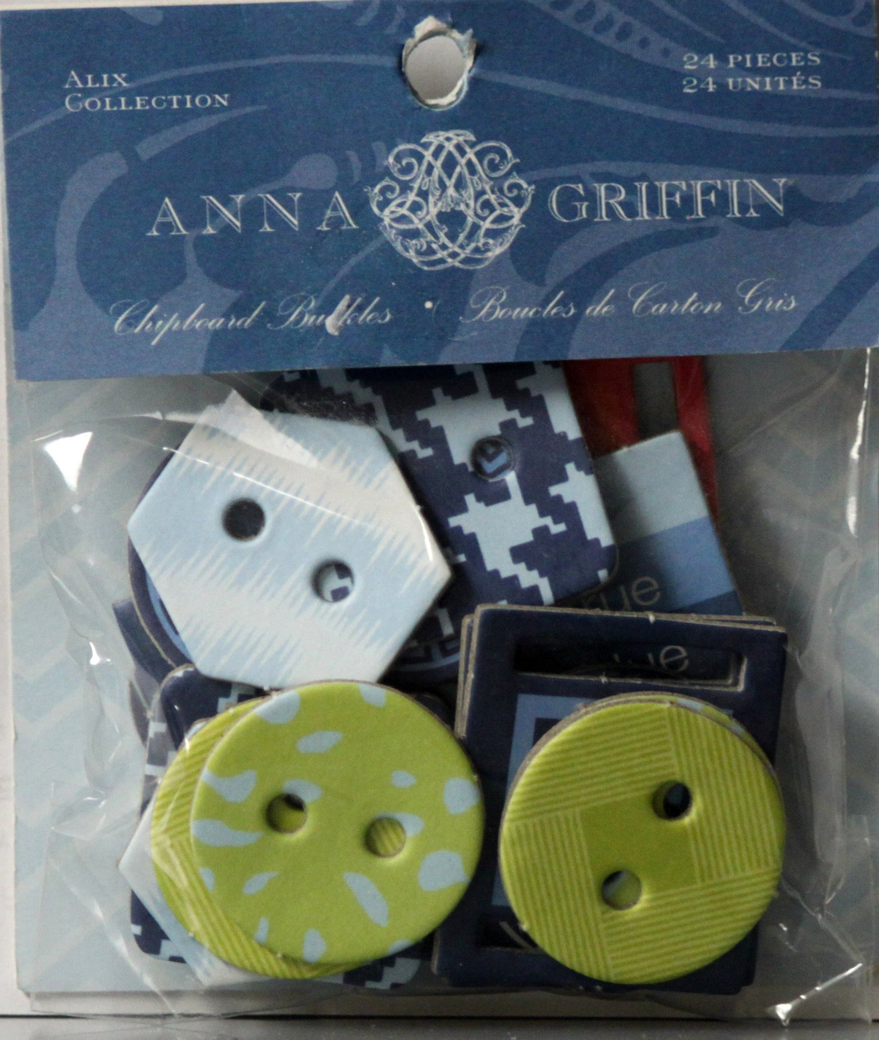 Anna Griffin Alix Collection Chipboard Buckles Embellishments - SCRAPBOOKFARE