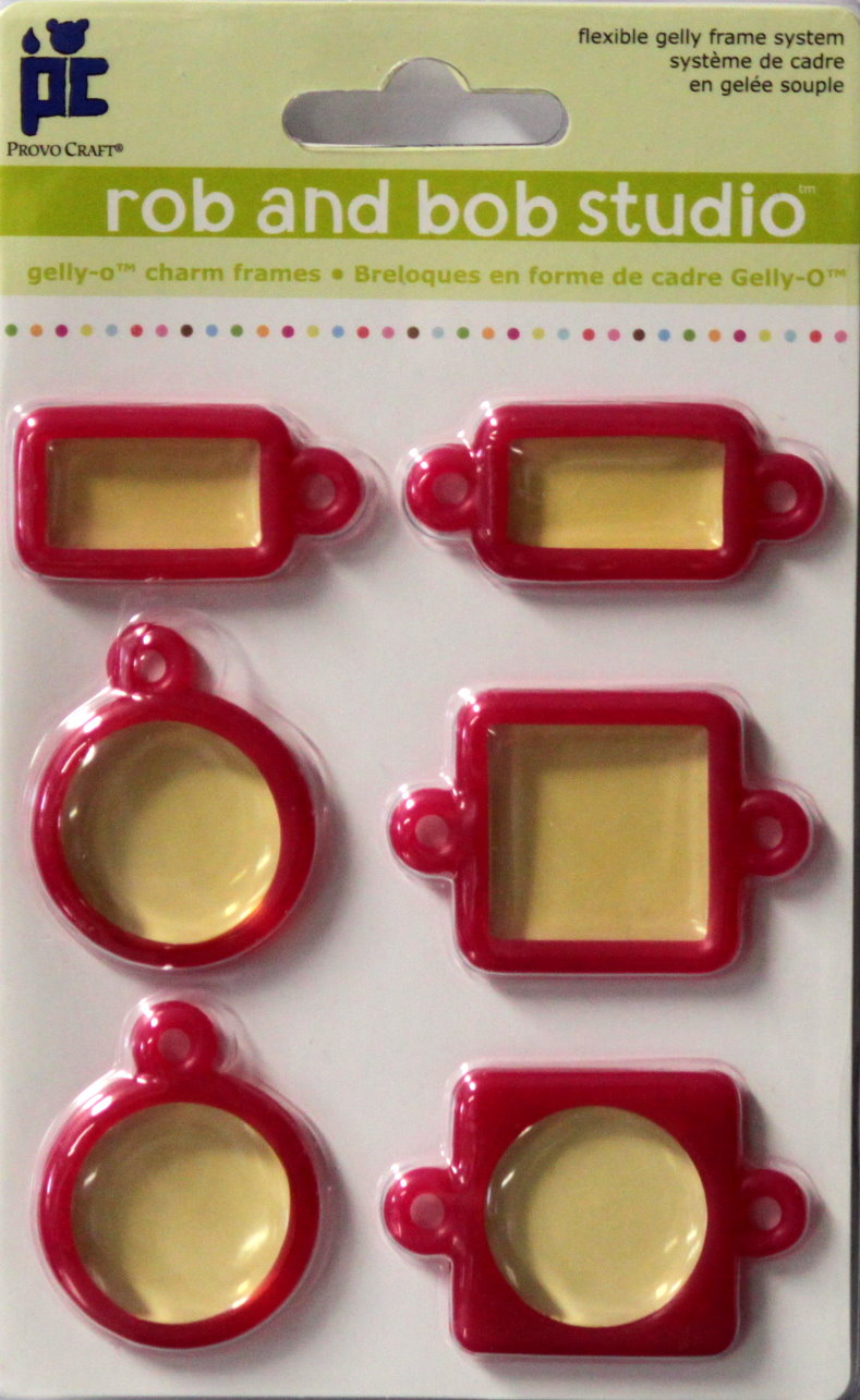 Provo Craft Rob And Bob Studio Berry Gelly-O Charm Plastic Window Frames Embellishments