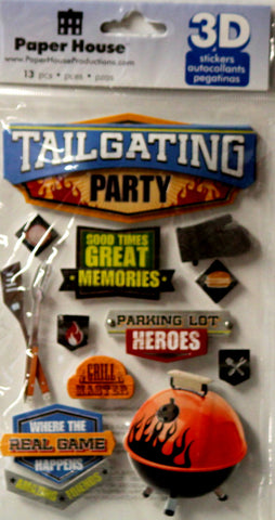 Paper House 3D Dimensional Tailgating Party Stickers