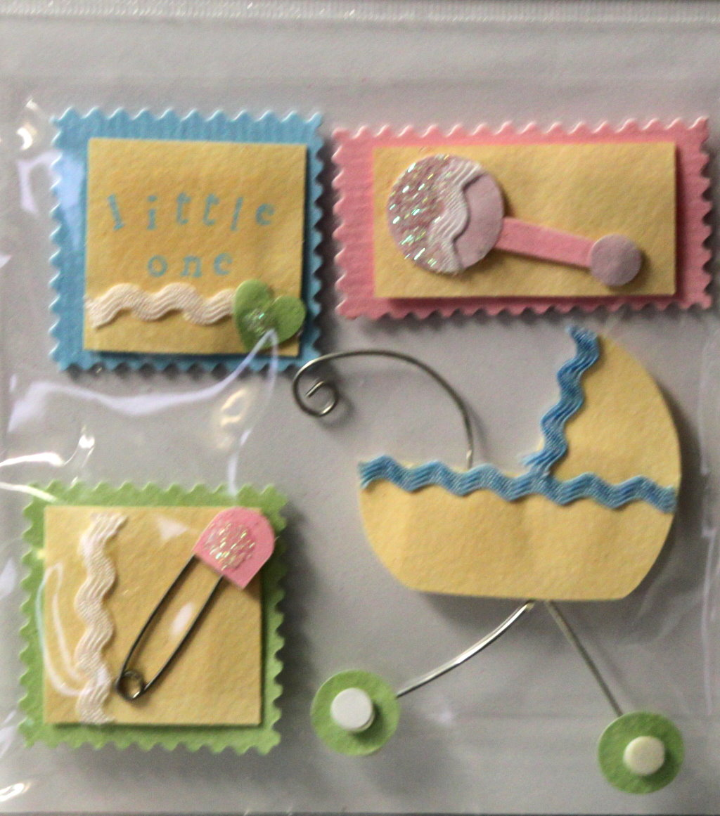 JoAnn Craft Essentials Baby Stamps 3-D Adhesive Embellishments
