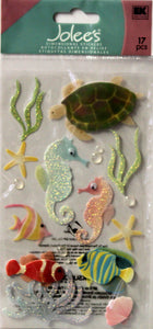 Jolee's Boutique Sea Horses Vellum Dimensional Scrapbook Stickers