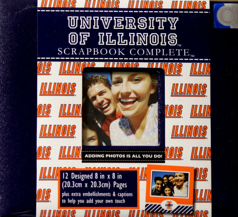 Officially Licensed University Of Illinois 8 x 8 Complete Scrapbook Album