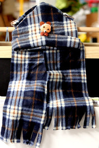 Baby And Toddler Soft Fleece Expandable Hat And Scarf Set