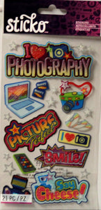 Sticko Photography Glitter Stickers