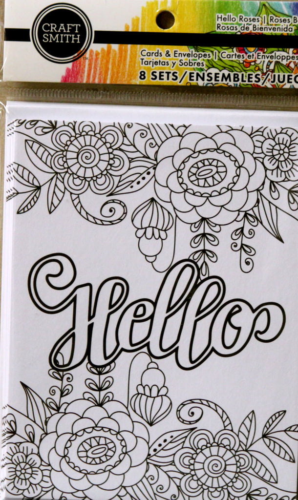 Craft Smith Hello Roses Cards & Envelopes Set