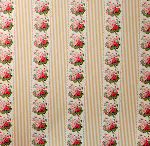 Anna Griffin 12 x 12 Eleanor Collection Floral Striped Design Cardstock Scrapbook Paper
