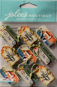 Jolee's Boutique Bon Voyage Tag Repeat Dimensional Stickers