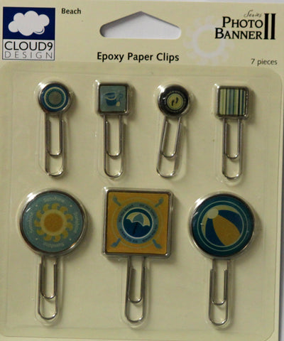 Cloud 9 Design Photo Banner Series II Beach Epoxy Paper Clips Embellishments