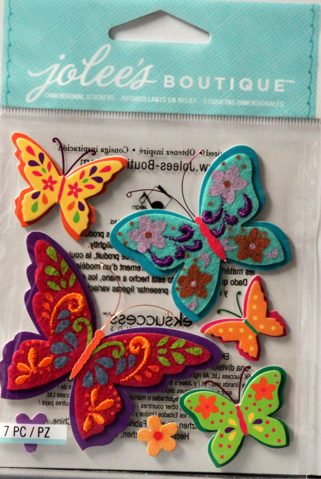 Jolee's Boutique Colorful Butterflies Embellishment Stickers
