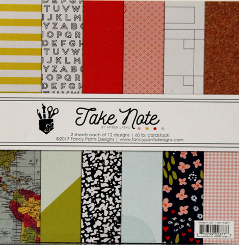 Fancy Pants Designs Amber Labau Take Note 6 x 6 Scrapbook Paper Pad
