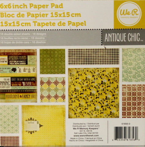 We Are Memory Keepers Antique Chic Double-sided 6 x 6 Scrapbook Paper Pad