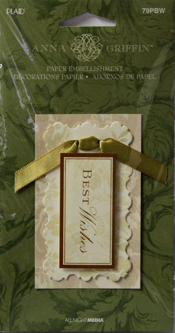 Anna Griffin Best Wishes Dimensional Sticker Embellishment