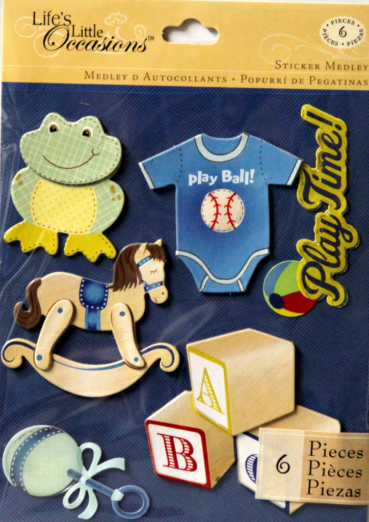K & Company Life's Little Occasions Baby Boy Toys Dimensional Stickers Medley