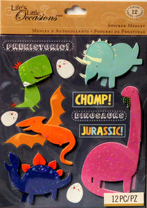 K & Company Life's Little Occasions Dinosaur Dimensional Sticker Medley