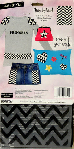 Next Style Iron-On Black Zig Zag Transfer
