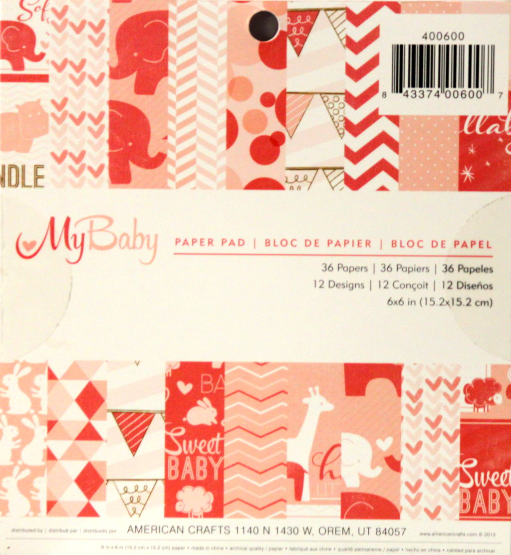American Crafts My Baby 6 x 6 Scrapbook Paper Pad