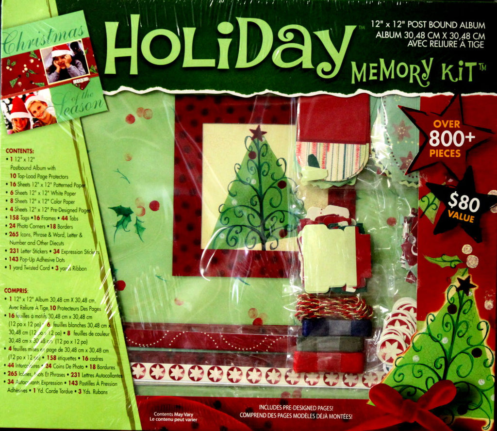 "Westrim Crafts Holiday Memory Deluxe 12"" x 12"" Scrapbook Kit"