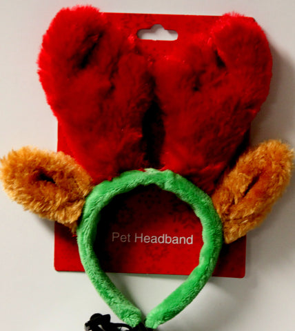 Pet Central Reindeer Pet Headband