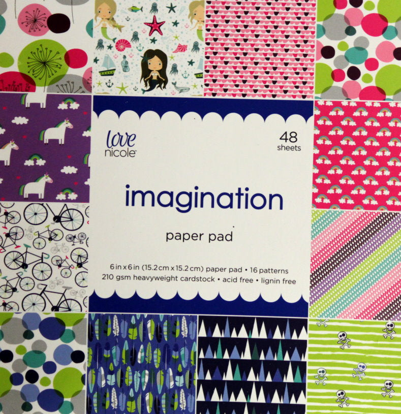 Nicole Love Imagination 6 x 6 Cardstock Scrapbook Paper Pad