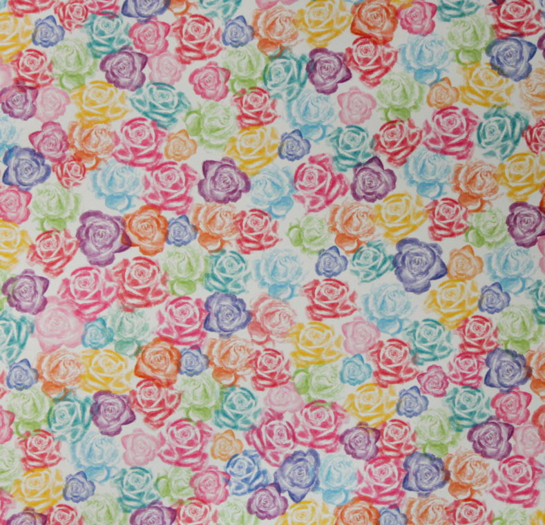 Recollections 12 X 12 Multi Roses Patterned Scrapbook Paper