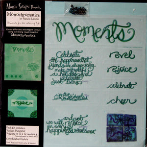 Magic Scraps 12 X 12 Monochromatics Moments Scrapbook Page Kit - SCRAPBOOKFARE