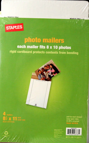 Staples Photo Mailers 4 Pack 8.75 x 11