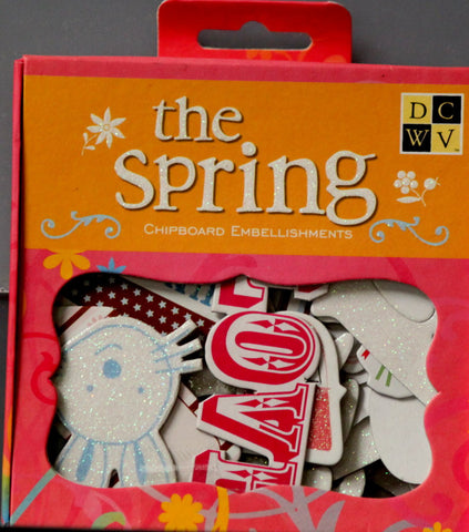 DCWV The Spring Chipboard Embellishments - SCRAPBOOKFARE