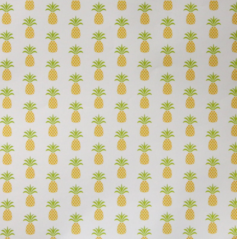 Recollections 12 X 12 Yellow Pineapples Patterned Scrapbook Paper
