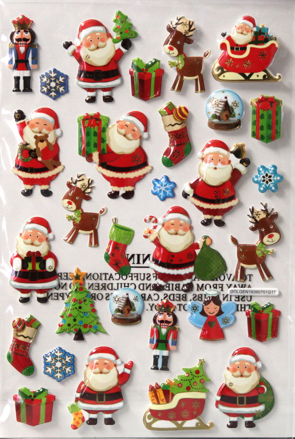 Christmas Santa Pop Up Dimensional Stickers