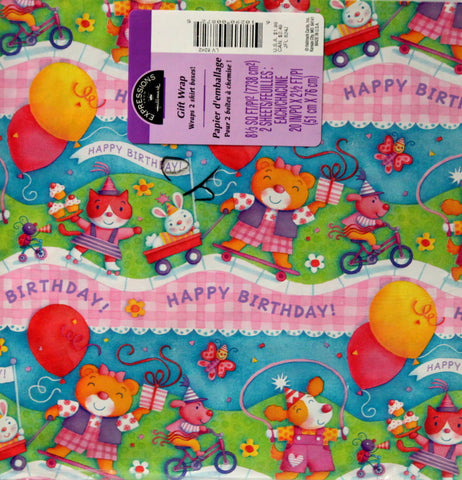 Hallmark Expressions Happy Birthday Gift Wrap Paper