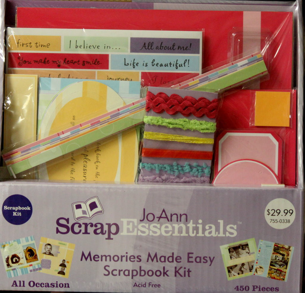 JoAnn Scrap Essentials Memories Made Easy 12 x 12 Scrapbook Kit - SCRAPBOOKFARE