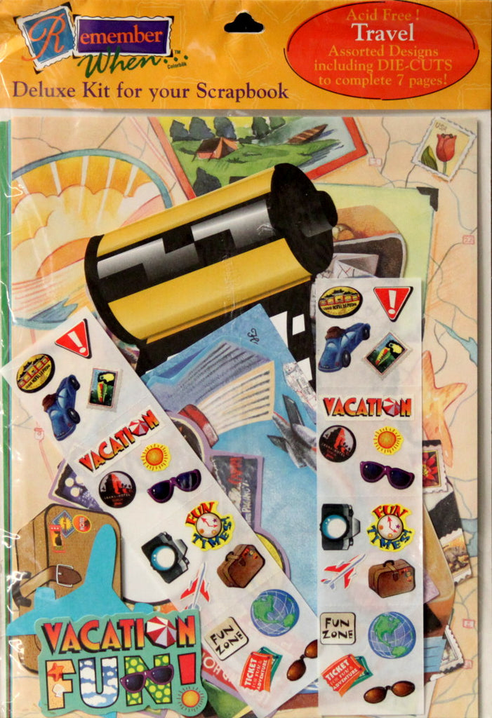 Colorbok Remember When Travel Scrapbooking Kit