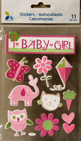 Momenta Foam Dimensional Baby Girl Element Stickers