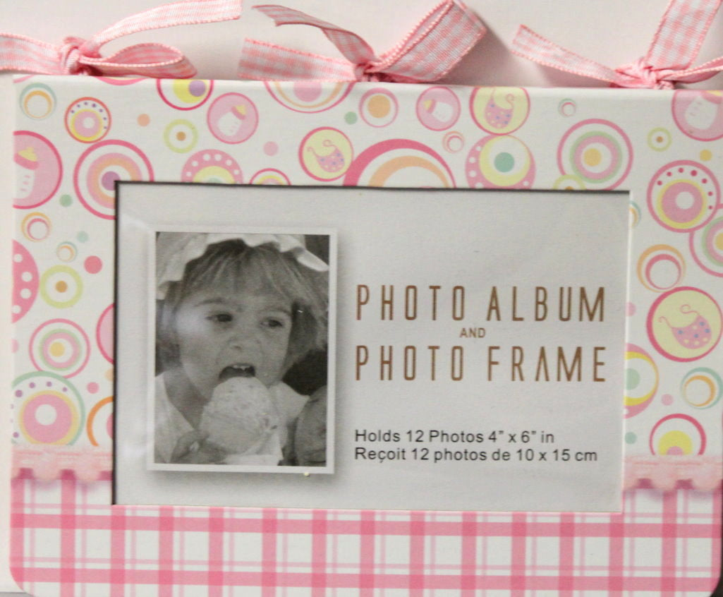 Baby Girl Chipboard Photo Album and Photo Frame Book