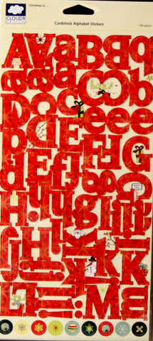 Cloud 9 Design Christmas Is... Cardstock Alphabet Stickers