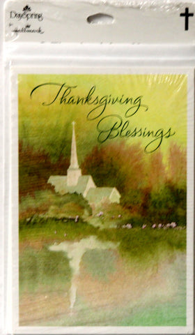 Hallmark Dayspring 8 Thanksgiving Notes & Envelopes Set - SCRAPBOOKFARE