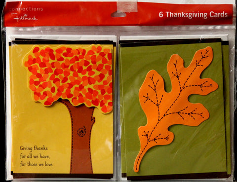 Hallmark Connections 6 Thanksgiving Cards & Envelopes Set - SCRAPBOOKFARE
