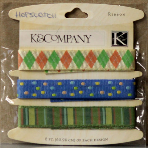 K & Company Hopscotch Boy Ribbon Embellishments