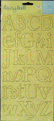 Daisy Hill Baby Polka Dot Die-cut Chipboard Alphabet Embellishments