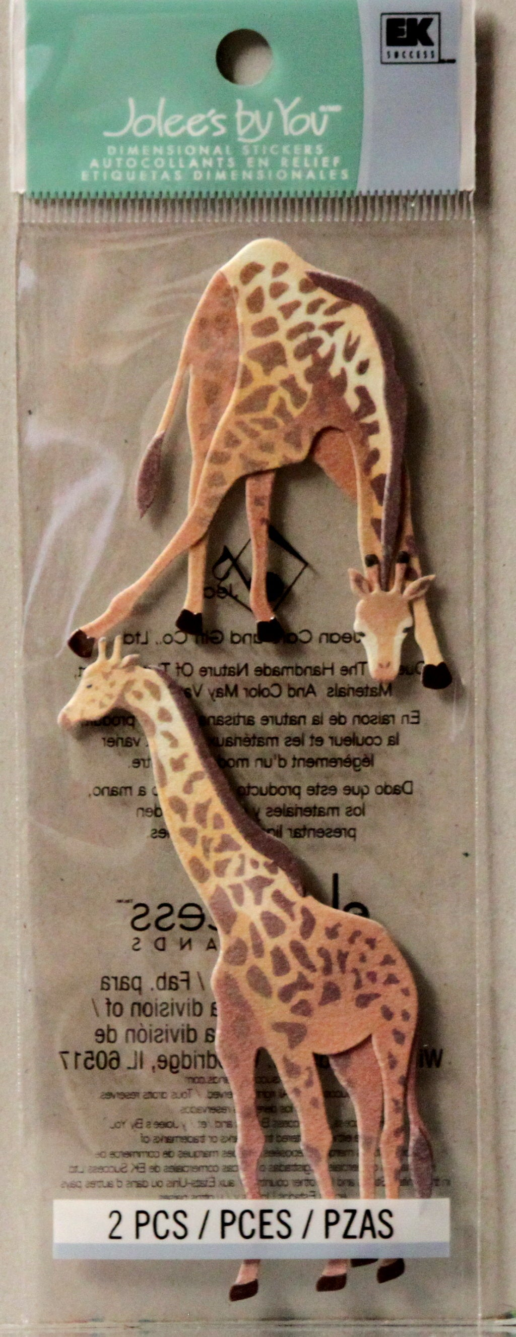 Jolee's Boutique Jolee's By You Giraffe Dimensional Stickers
