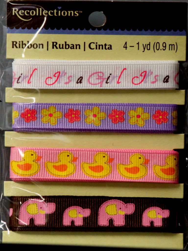 Recollections Baby Girl Ribbon Embellishments - SCRAPBOOKFARE