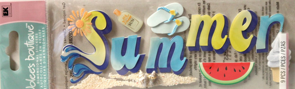 Jolee's Boutique Summer Title Dimensional Stickers