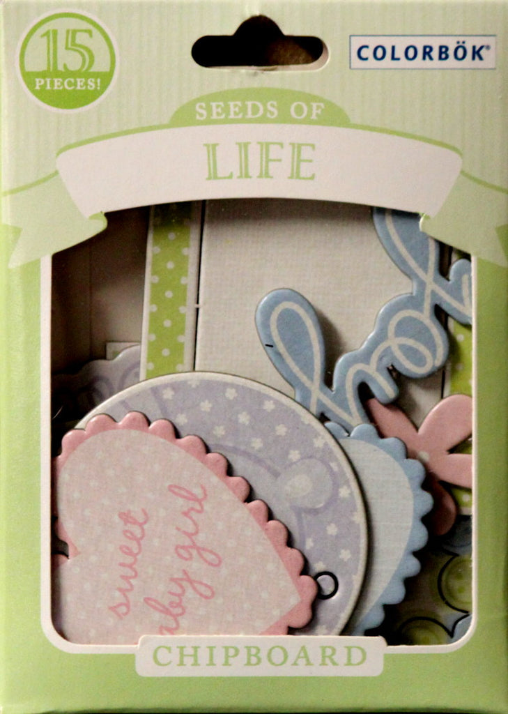 Colorbok Seeds Of Life Die-Cut Chipboard Embellishments