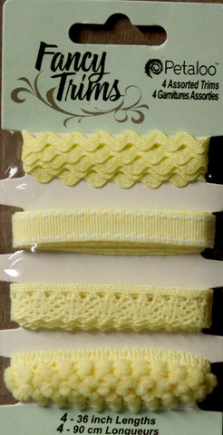 Petaloo Yellow Fancy Trims Embellishments