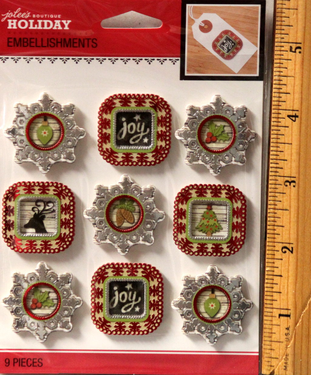 Jolee's Boutique Holiday Frames Repeat Dimensional Stickers Embellishments
